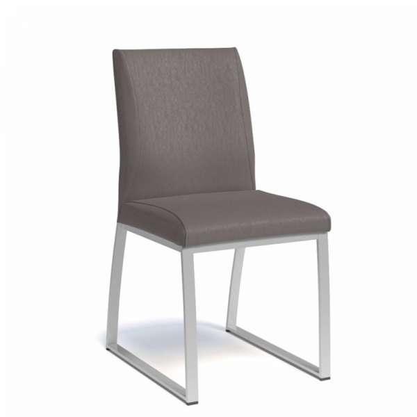 Chaise rembourrée en synthétique et métal - Elite