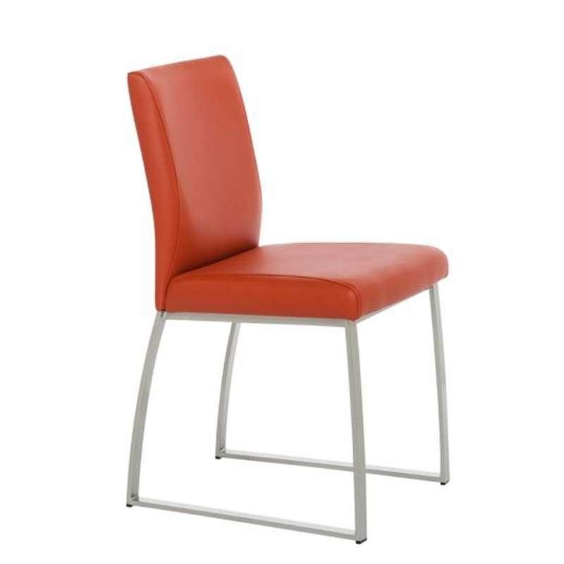 chaise rembourr e en synth tique et m tal elite 4 pieds tables chaises et tabourets. Black Bedroom Furniture Sets. Home Design Ideas