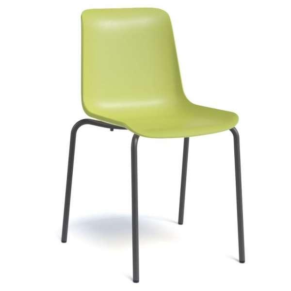 chaise empilable en polypropyl ne et m tal paris 4 pieds tables chaises et tabourets. Black Bedroom Furniture Sets. Home Design Ideas