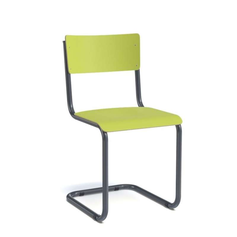 Chaise bois et metal industrial furniture bistro chair in for Chaises blanches pied bois
