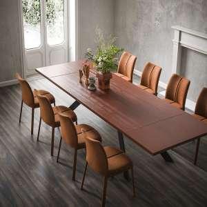 Table de salle à manger stratifié en mélaminé et métal - Mix