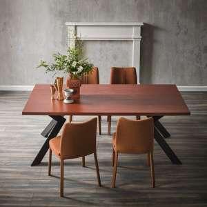 Table moderne en stratifié et métal - Mix