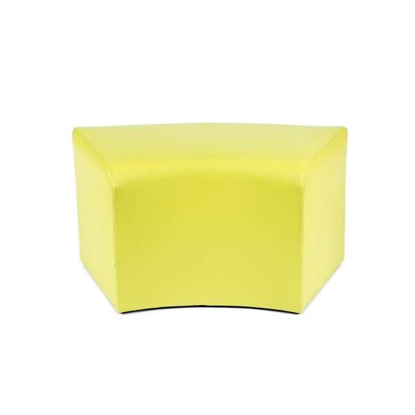 Pouf rectangulaire courbé contemporain jaune - Max C1-8 - 14