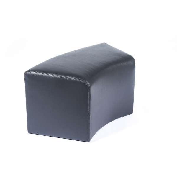 pouf rectangulaire courb en synth tique max c1 8 4 pieds tables chaises et tabourets. Black Bedroom Furniture Sets. Home Design Ideas