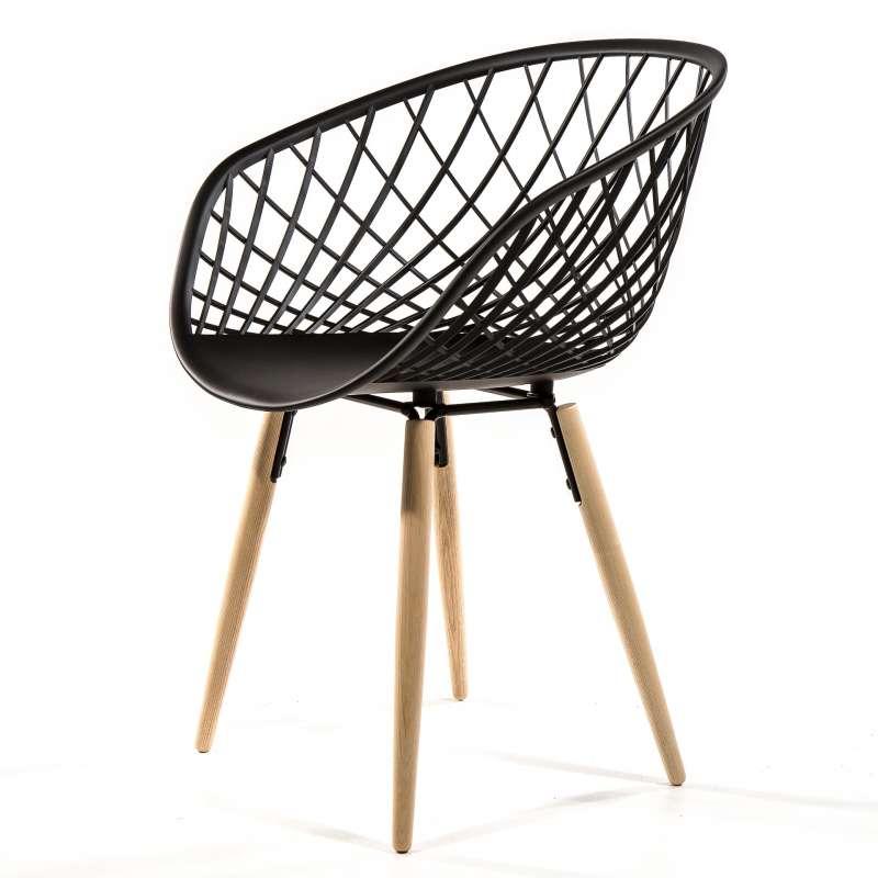 fauteuil design en polypropyl ne et bois naturel sidera. Black Bedroom Furniture Sets. Home Design Ideas