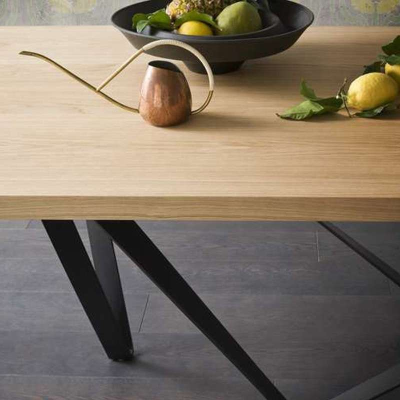 Table Bois Metal Design: Table Design Extensible En Métal Et Bois - Wave