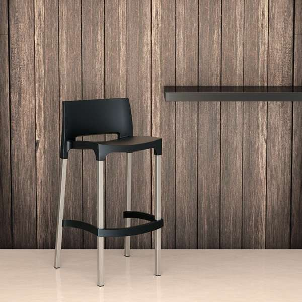 tabouret de bar en aluminium et polypropyl ne gio 4. Black Bedroom Furniture Sets. Home Design Ideas