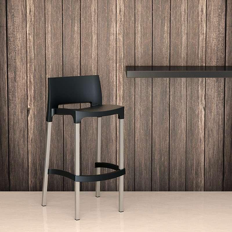 tabouret de bar en aluminium et polypropyl ne gio 4. Black Bedroom Furniture Sets. Home Design Ideas