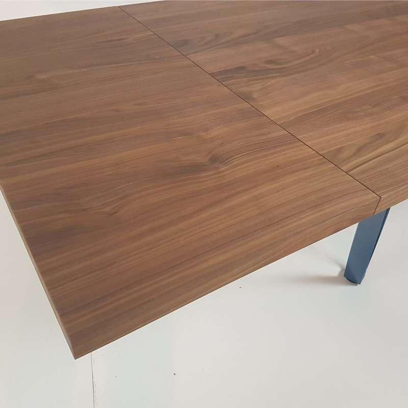 table a manger bois metal best table avec rallonge en. Black Bedroom Furniture Sets. Home Design Ideas
