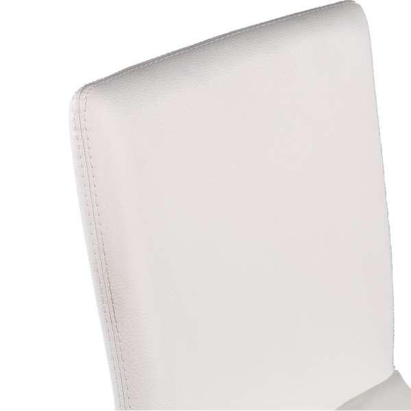 Tabouret contemporain en vinyl blanc - Garda 2 - 12