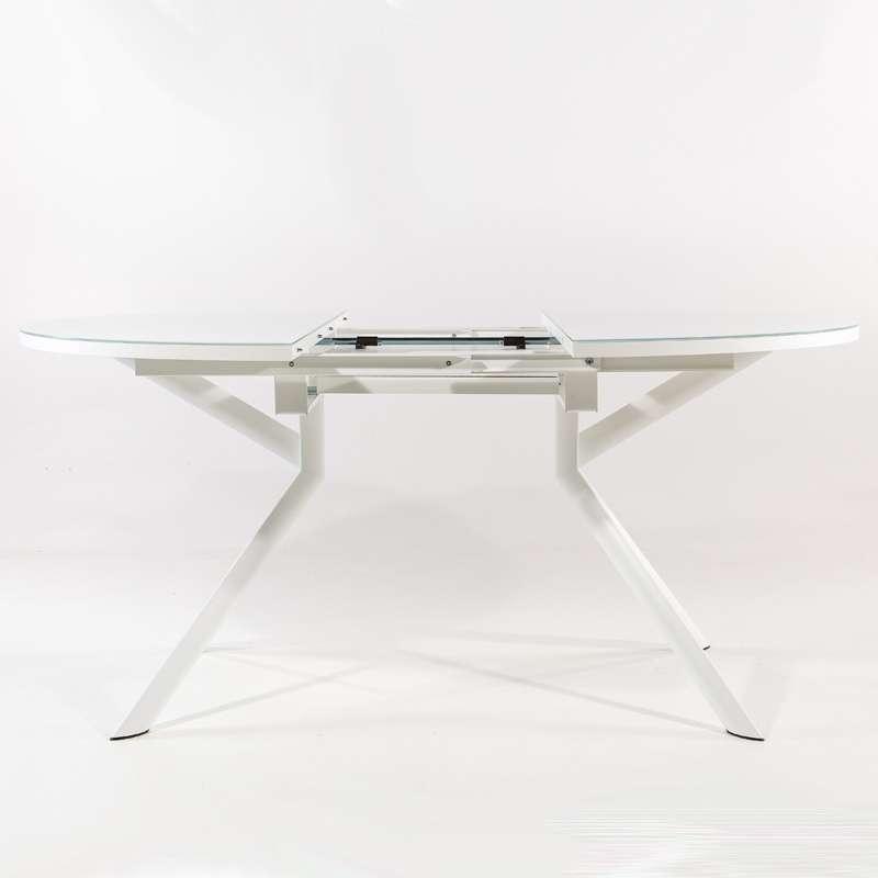 Table ronde extensible en verre giove 4 pieds tables - La table ronde vinon sur verdon ...