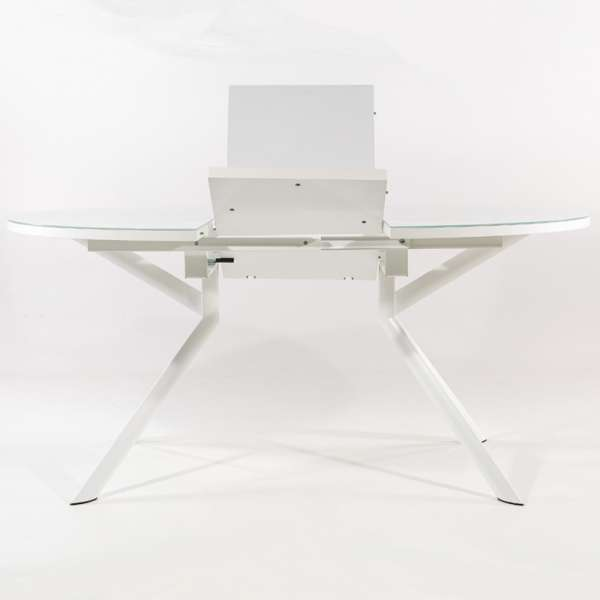 Table en verre ronde avec allonge - Giove - 6