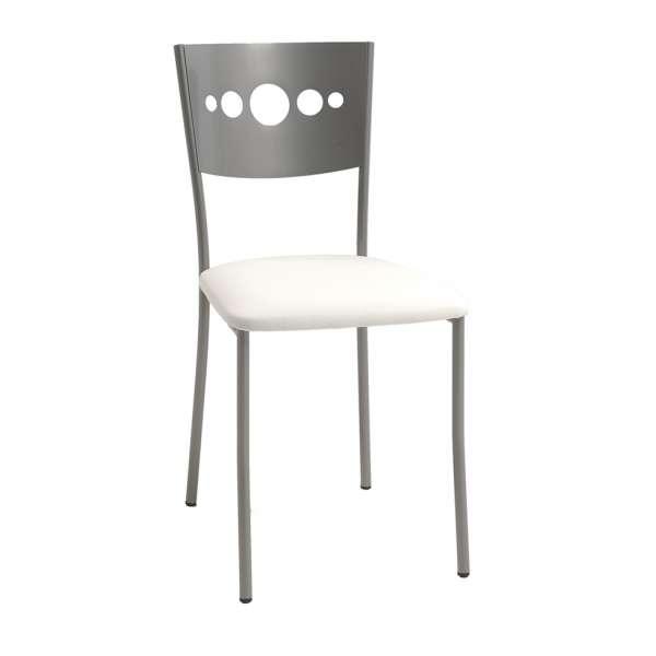 chaise de cuisine en m tal et synth tique bilo 4 pieds tables chaises et tabourets. Black Bedroom Furniture Sets. Home Design Ideas