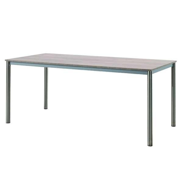 Table contemporaine rectangulaire en mélaminé et métal - Candi