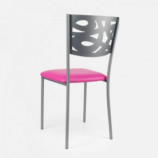 Chaise contemporaine en métal et vinyle - Claudie 6 - 6