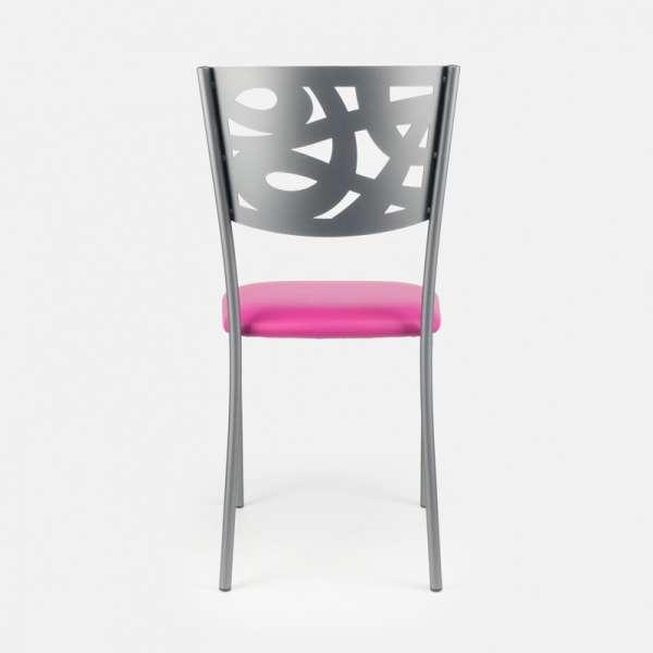 Chaise contemporaine en métal et vinyle - Claudie 7 - 7