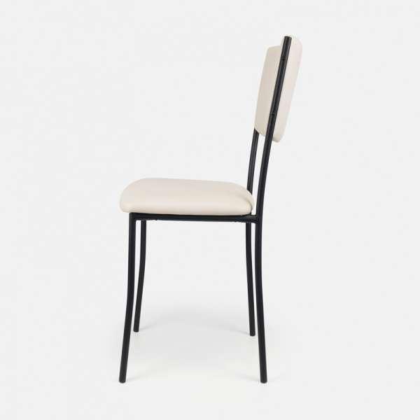 Chaise de cuisine en métal et vinyl - Ruby 11 - 12