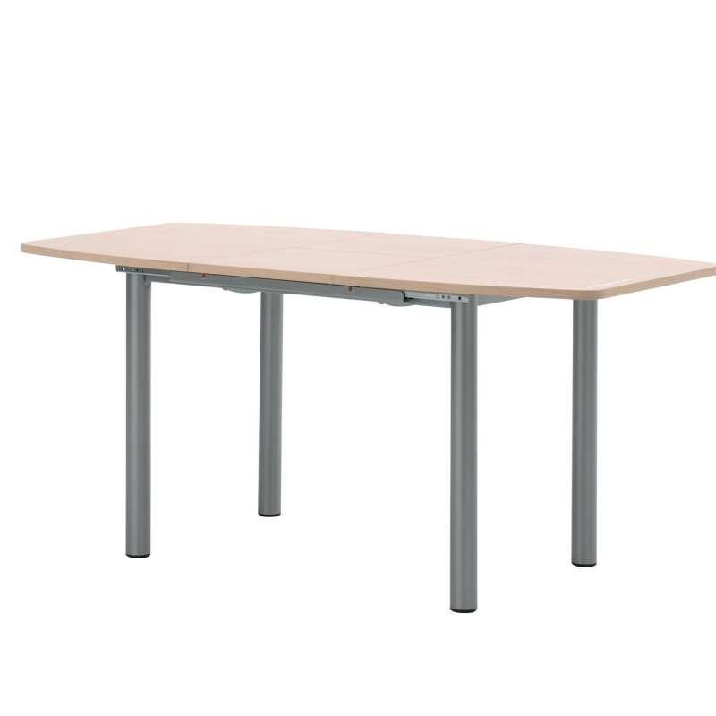 Table de cuisine extensible contemporaine en m lamin for Table extensible 4 pieds