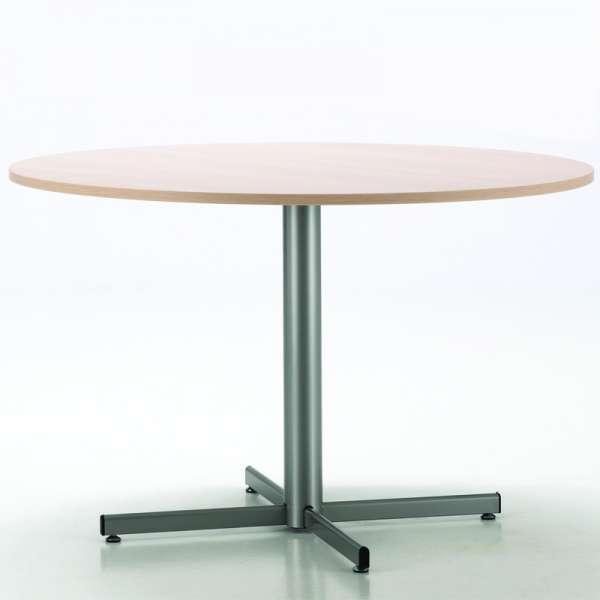 Table de cuisine ronde en mélaminé et métal - Voyager