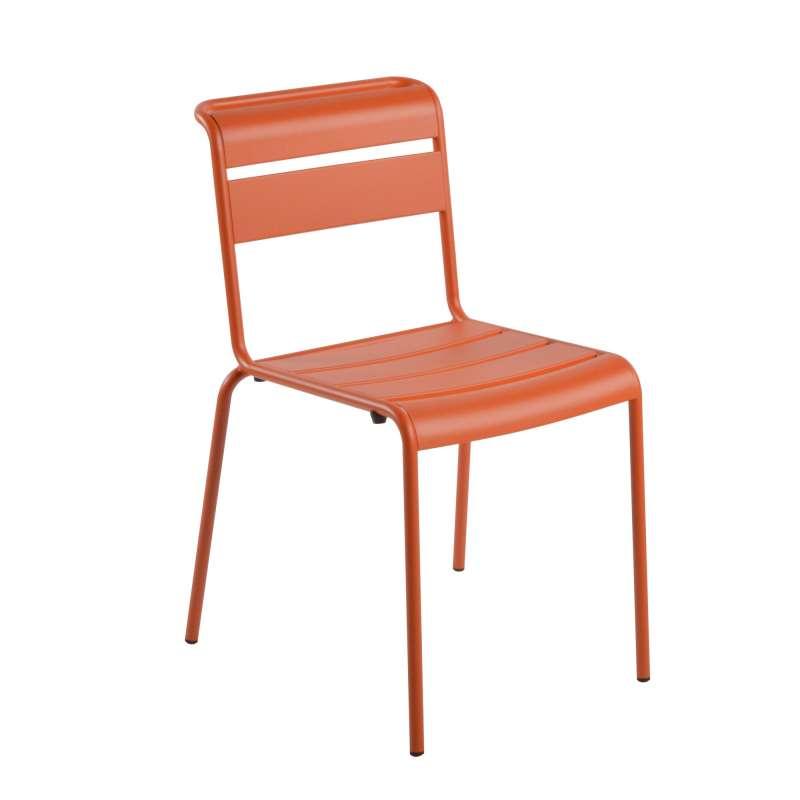 chaise de jardin r tro en m tal lutetia 4 pieds tables chaises et tabourets. Black Bedroom Furniture Sets. Home Design Ideas