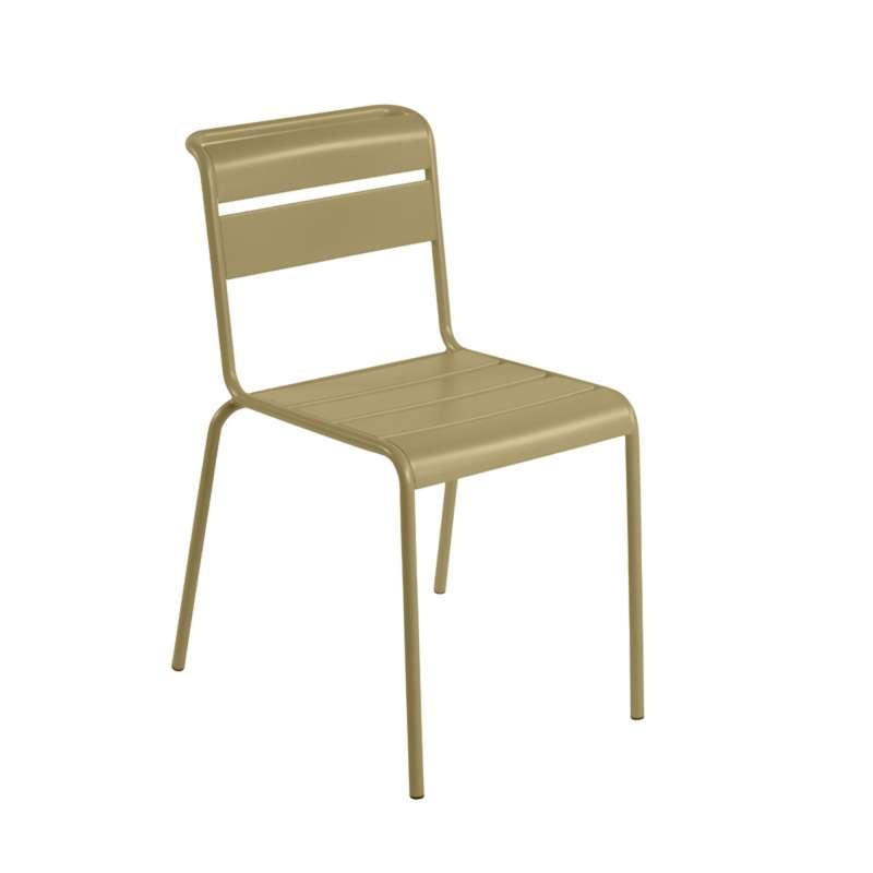 Chaise de jardin r tro en m tal lutetia 4 pieds for Chaise jardin metal