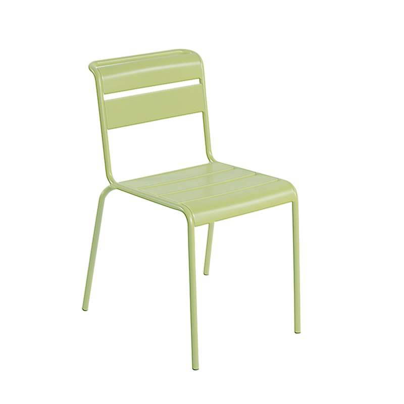 chaise de jardin r tro en m tal lutetia 4 pieds. Black Bedroom Furniture Sets. Home Design Ideas