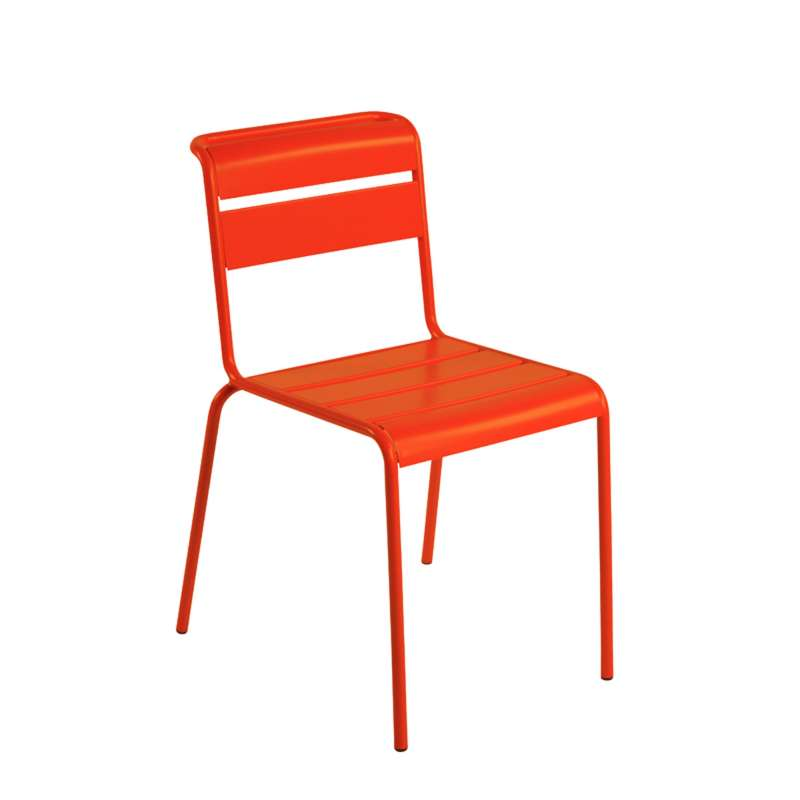 Chaise de jardin rétro en métal - Lutetia | 4-pieds.com