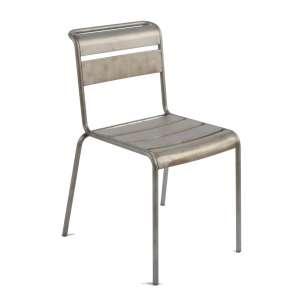 Chaise industrielle en métal vernis transparent - Lutetia