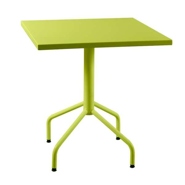 Table de jardin pliante en m tal riviera 4 4 pieds for Table exterieur pliante