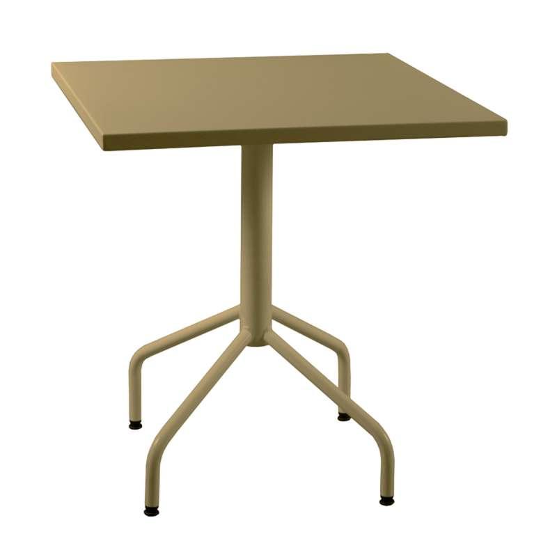 Table de jardin pliante en m tal riviera 4 4 pieds - Pied de table pliant escamotable ...