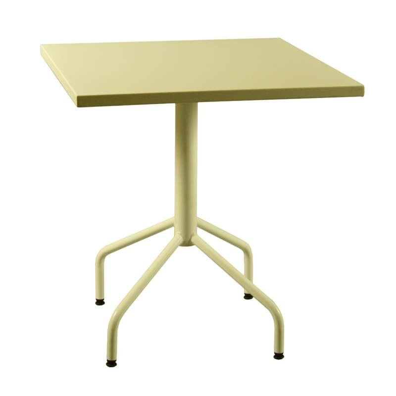 Table de jardin pliante en m tal riviera 4 4 pieds for Table de jardin metal pliante