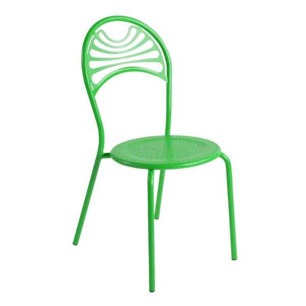 Chaise de jardin contemporaine en m tal cabaret 4 pieds tables chaises - Chaise de jardin en metal ...