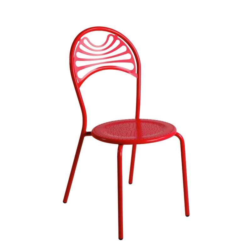 Chaise de jardin contemporaine en m tal cabaret 4 for Chaise jardin metal