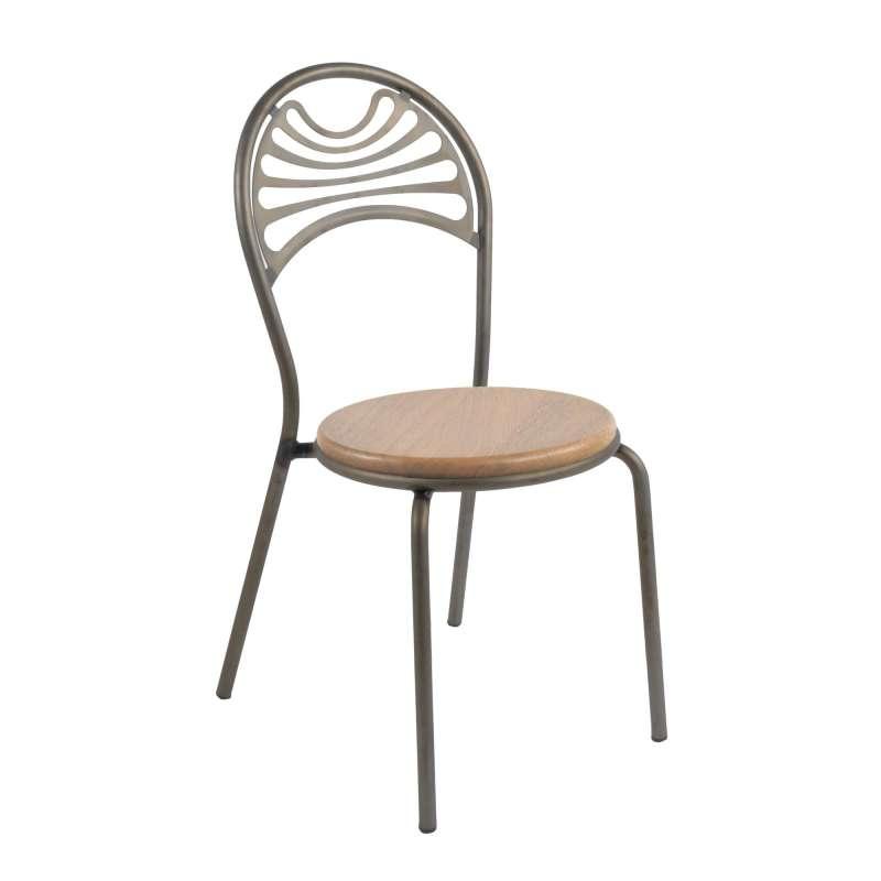 chaise style industriel en m tal cabaret 4 pieds. Black Bedroom Furniture Sets. Home Design Ideas