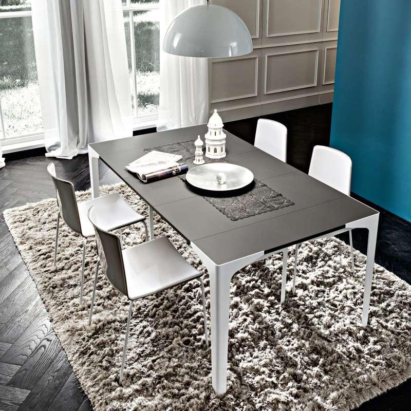 Console Extensible Design En Stratifié - Fabio | 4 Pieds : Tables