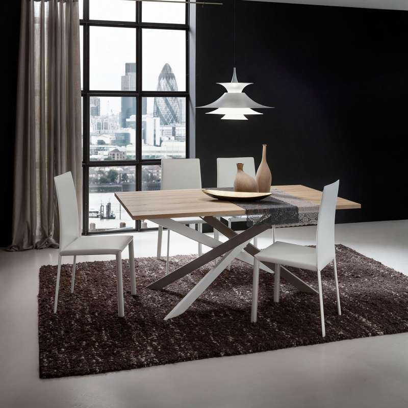 table de salle manger design extensible en stratifi renzo 4. Black Bedroom Furniture Sets. Home Design Ideas