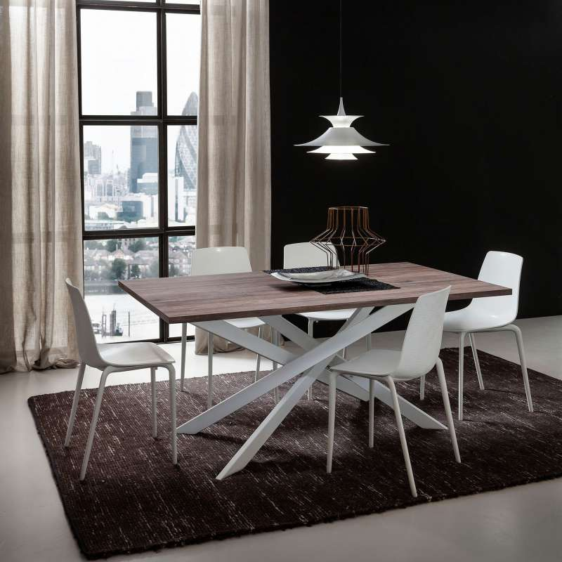Table de salle manger design extensible en stratifi for Table salle a manger extensible design