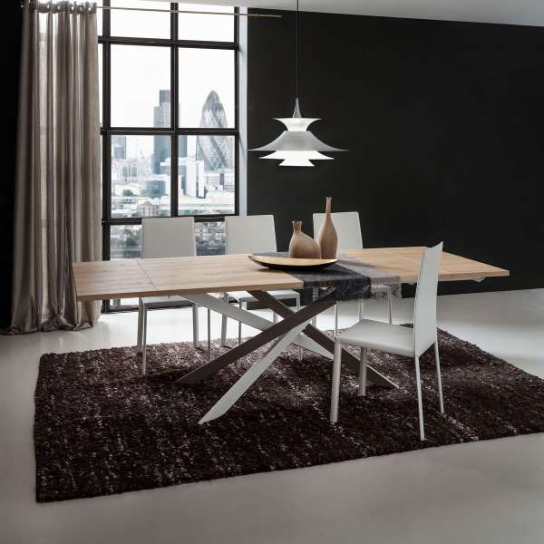 table de salle manger design extensible en stratifi renzo 4 pieds tables chaises et. Black Bedroom Furniture Sets. Home Design Ideas