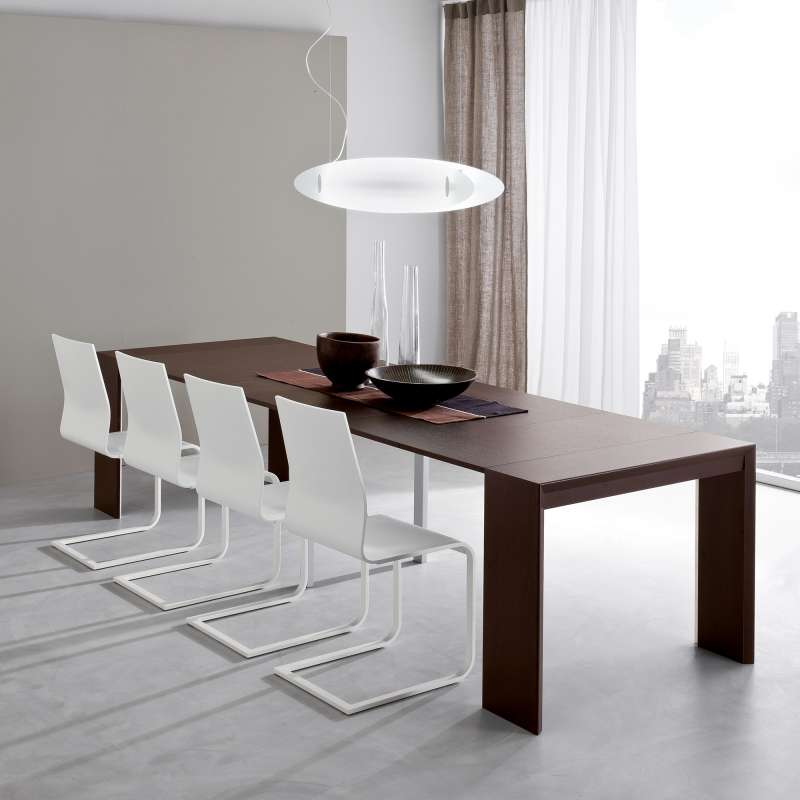 Console Extensible Moderne En Stratifié - Paolo | 4 Pieds : Tables