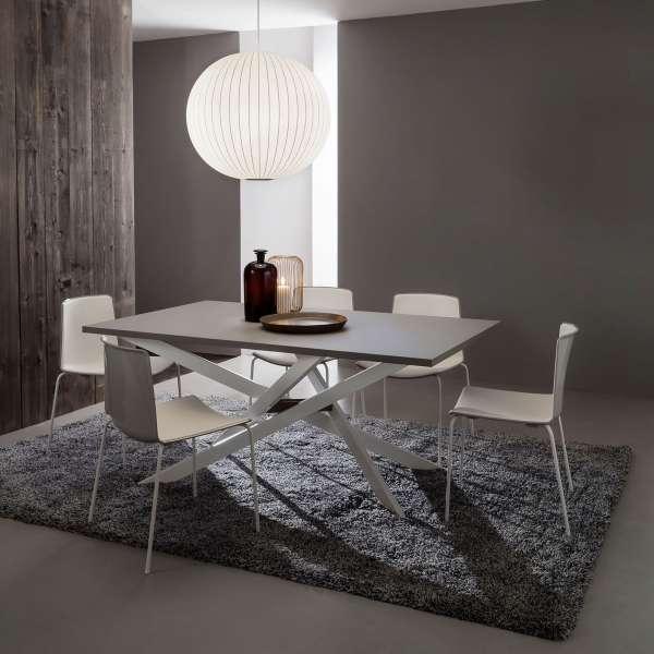 Table contemporaine extensible en fenix - Renzo 2 - 2