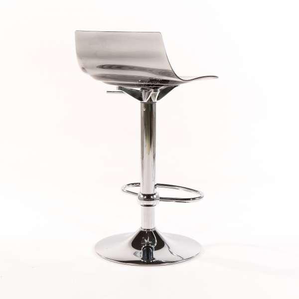 Tabouret réglable design en technopolymère vert transparent et métal - 1477 16 - 16
