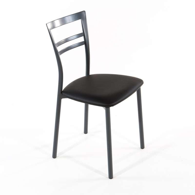 Chaise de cuisine quatre pieds avec des for Quatre pieds quatre chaises