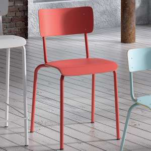 Chaise vintage métal et bois - Collège 1