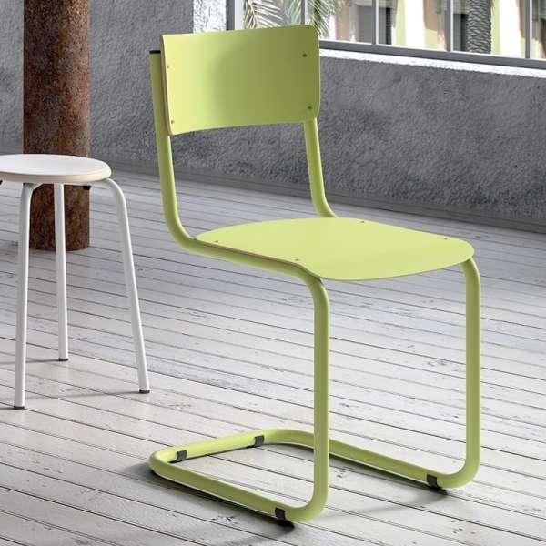 chaise r tro en bois et m tal vintage 4. Black Bedroom Furniture Sets. Home Design Ideas