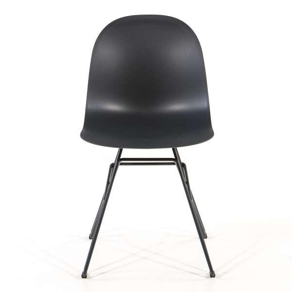 Chaise design en polypropylène noir et métal - 1664 Academy Connubia 2 - 2