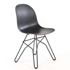 Chaise design en polypropylène noir et métal - 1664 Academy Connubia
