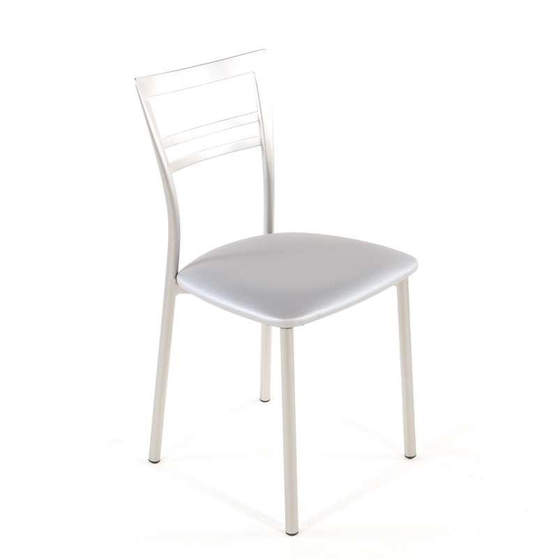 Chaise de cuisine rembourrée en vinyle et métal  Go 1419  4 Pieds