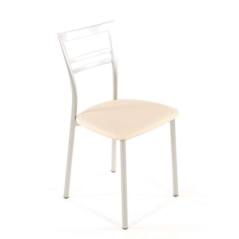 Cuisine Design Ouverte Sur Salon : Chaise de cuisine rembourrée en vinyle et métal  Go 1419  4 Pieds