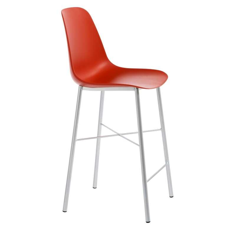 tabouret snack moderne en polypropyl ne et m tal cloe 4 pieds tables chaises et tabourets. Black Bedroom Furniture Sets. Home Design Ideas