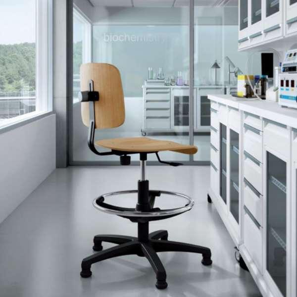 Chaise d'atelier réglable en bois - Tecnik